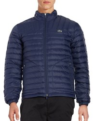 Lacoste Lightweight Quilted Puffer Jacket Navy