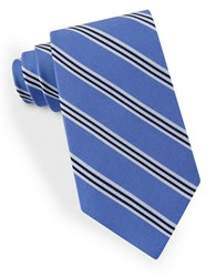 Lord And Taylor Racer Stripe Tie Blue