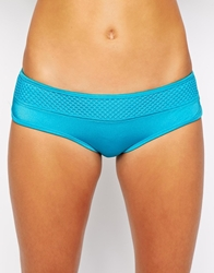 Ginja By Baku Solid Shimmer Boy Short Bottoms Aqua
