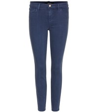 J Brand Low Rise Super Skinny Jeans Blue