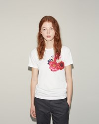 Comme Des Garcons Floral Printed Tee White Multi