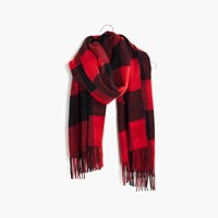 Madewell Reversible Cape Scarf Kilt Red