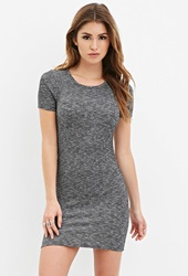 Forever 21 Ribbed Knit Bodycon Dress Charcoal