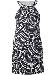 Trina Turk Printed Short Dress Black
