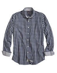 Dockers Modern Fit Plaid Hybrid Laundered Sportshirt Bright Blue