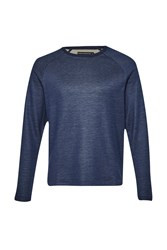 French Connection Francis Field Double Sweatshirt Navy Slub
