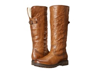 Frye Valerie Pull On Cognac Antique Soft Vintage Shearling Cowboy Boots Brown