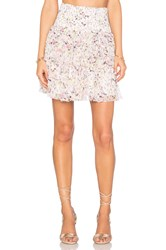 Rebecca Taylor Tapestry Garden Skirt Pink