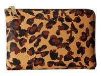 Ivanka Trump Rio Tech Clutch With Battery Charging Pack Camel Floral Animal Print Clutch Handbags
