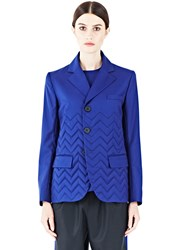 Gauchere Gil Zigzag Quilted Jacket Blue