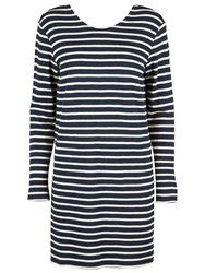 Samsoe And Samsoe Damas Stripe Dress Breton Blue