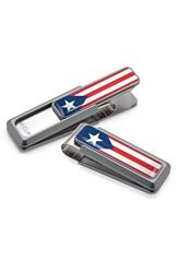 M Clip Puerto Rican Flag Money Clip Natural