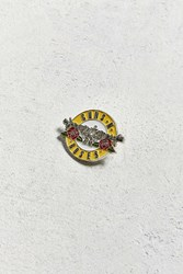 Urban Outfitters Guns N' Roses Welcome Pin Yellow