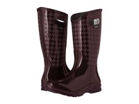 Bogs Berkley Houndstooth Waterproof Boot Eggplant Multi Women's Waterproof Boots Purple