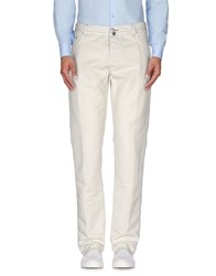 Luigi Borrelli Napoli Trousers Casual Trousers Men Ivory