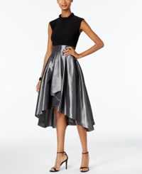 Si Fashions Sl Embellished High Low Cocktail Dress Black Silver