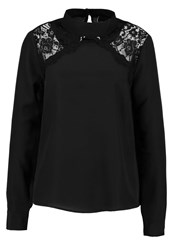 Lost Ink Chevron Blouse Black