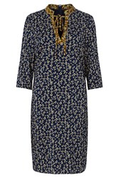 Sugarhill Boutique Evaline Ditsy Print Tunic Dress Blue