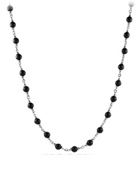 Rosary Bead Necklace With Black Onyx David Yurman