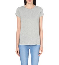 The White Company Foil Print Jersey T Shirt Grey Marl