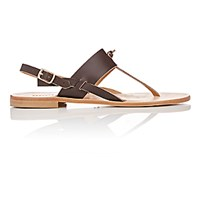 Barneys New York Women's Knotted Thong Sandals Brown