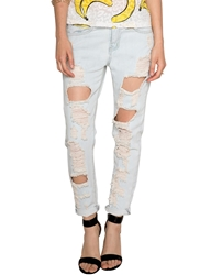 Pixie Market Light Wash Ripped Boyfriend Jeans