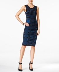 Bar Iii Intarsia Knit Bodycon Dress Only At Macy's Tranquil
