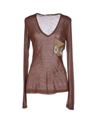 Met And Friends Topwear T Shirts Women Cocoa