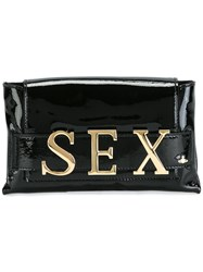 Vivienne Westwood Red Label 'Sex' Plaque Clutch Black
