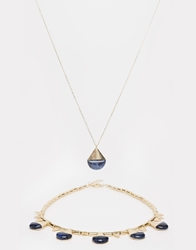 Selected Femme Clara Two Pack Necklace Gold
