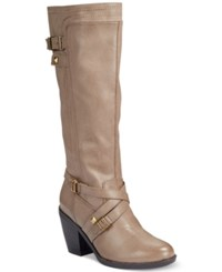 Rialto Madyson Tall Boots Women's Shoes Stone Taupe