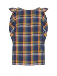 M.I.H Jeans Caval Checked Frill Sleeve Top Multi