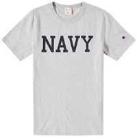 Champion Reverse Weave Navy Tee Grey