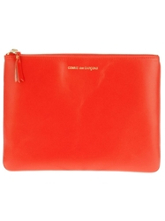 Comme Des Garcons Wallet Large Document Holder Yellow And Orange