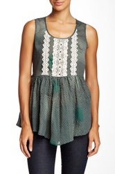 Ryu Embellished Sleeveless Blouse Green
