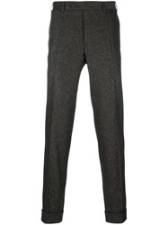 Canali Woven Slim Fit Trousers Brown