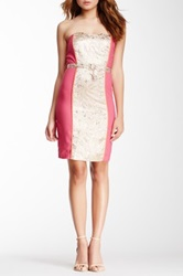 Champagne And Strawberry Metallic Front Dress Pink