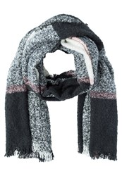 Anna Field Scarf Offwhite Grey Rose Off White