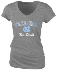 Blue 84 Women's North Carolina Tar Heels Arched Marble T Shirt Charcoal