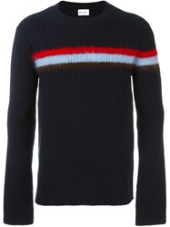 Dondup Contrast Stripe Jumper Blue