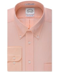 Eagle Men's Classic Fit Non Iron Pinpoint Dress Shirt Cantalope