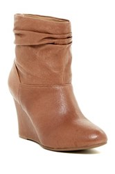Chinese Laundry U Bet Slouch Wedge Bootie Brown