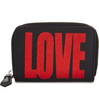 Givenchy Love Mini Leather Wallet Black Red