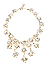 Christian Dior Vintage Embellished Bib Costume Necklace Metallic