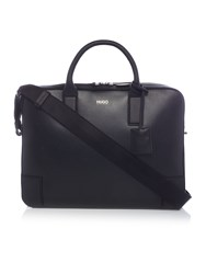 Hugo Boss Digital Leather Document Holder Black