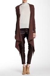 Free People Sloan Long Sleeve Hooded Cardigan Brown