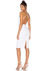 Donna Mizani Square Neck Midi Dress White