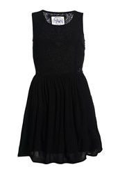 Superdry Sheer Lacy Sweep Dress Black
