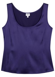 Armani Collezioni Purple Stretch Silk Tank