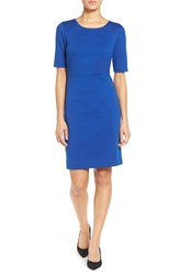 Ellen Tracy Women's Seamed Ponte Sheath Dress Cobalt